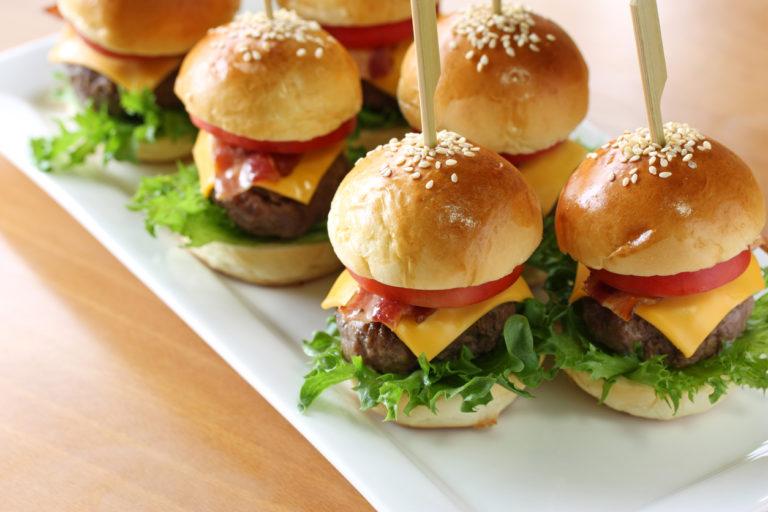 mini hamburger, mini burger, slider,homemade party food